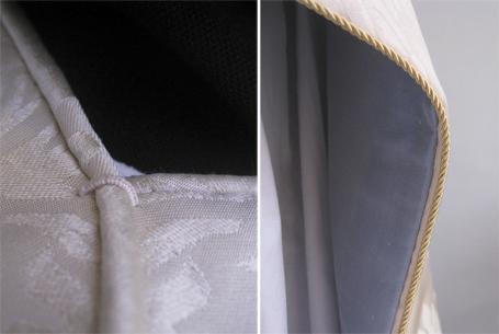 Detaljer ved halsen - og langs kanten